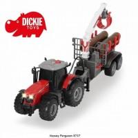 Tractor Massey Ferguson 8737 cu remorca Dickie